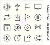 matherial design line icons set ... | Shutterstock .eps vector #791379991