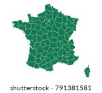 map of france | Shutterstock .eps vector #791381581