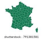 map of france | Shutterstock .eps vector #791381581