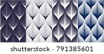 abstract lines geometric... | Shutterstock .eps vector #791385601