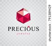 vector elegant sparkling gem....   Shutterstock .eps vector #791389429