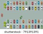 parking lot illustration  ... | Shutterstock .eps vector #791391391