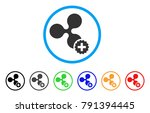 create ripple rounded icon.... | Shutterstock .eps vector #791394445