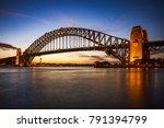 harbour bridge in darling... | Shutterstock . vector #791394799