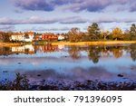 small village at the swedish... | Shutterstock . vector #791396095