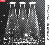 bright light spotlights  with... | Shutterstock .eps vector #791399131