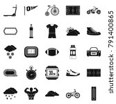 bicycling icons set. simple set ... | Shutterstock . vector #791400865