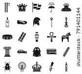 coronate icons set. simple set... | Shutterstock . vector #791401144
