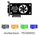 iota video gpu card icon.... | Shutterstock .eps vector #791403031