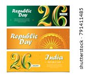 26 of january  india republic...   Shutterstock .eps vector #791411485