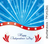 background with elements of usa ... | Shutterstock .eps vector #79141261