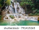 waterfalls in laos | Shutterstock . vector #791415265