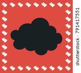 cloud icon flat. simple black...