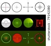 vector target crosshairs | Shutterstock .eps vector #79142380