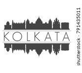 kolkata india asia skyline... | Shutterstock .eps vector #791435011