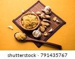 ginger garlic paste   fresh... | Shutterstock . vector #791435767