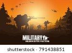 military vector illustration ... | Shutterstock .eps vector #791438851