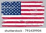 grunge usa flag.old flag of... | Shutterstock .eps vector #791439904