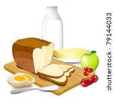 illustration of breakfast meal... | Shutterstock .eps vector #79144033
