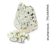 blue cheese on a white... | Shutterstock . vector #791444944