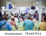 blur of outpatients and family... | Shutterstock . vector #791447911