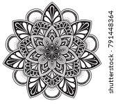 black and white mandala vector... | Shutterstock .eps vector #791448364