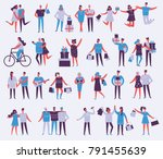 vector illustration in a flat... | Shutterstock .eps vector #791455639