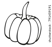vector vegetables black and...   Shutterstock .eps vector #791459191