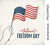 national freedom day of united... | Shutterstock .eps vector #791459905