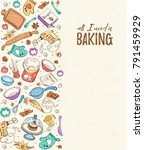 all i need is baking. baking... | Shutterstock .eps vector #791459929