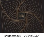 abstract black and gold... | Shutterstock .eps vector #791460664