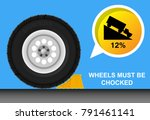 wheel chock car   Shutterstock .eps vector #791461141