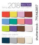 spring 2018 color palette new... | Shutterstock .eps vector #791462857
