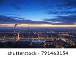 cloudy dawn over the french... | Shutterstock . vector #791463154