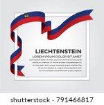 liechtenstein flag background | Shutterstock .eps vector #791466817