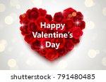 valentines day design  heart...   Shutterstock .eps vector #791480485