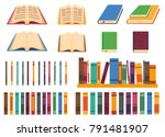 set of vector books in... | Shutterstock .eps vector #791481907