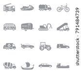 transport and vehicles icons....   Shutterstock .eps vector #791484739