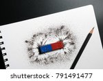 red and blue bar magnet or... | Shutterstock . vector #791491477