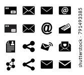 send icons. set of 16 editable... | Shutterstock .eps vector #791493385