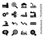 factory icons. set of 16... | Shutterstock .eps vector #791493559