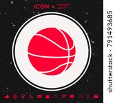 basketball ball icon | Shutterstock .eps vector #791493685
