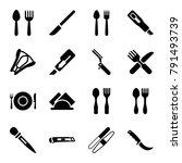 knife icons. set of 16 editable ... | Shutterstock .eps vector #791493739