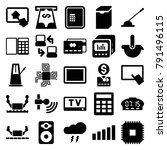 electronic icons. set of 25... | Shutterstock .eps vector #791496115