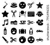 clipart icons. set of 25... | Shutterstock .eps vector #791496331