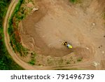 aerial view of a spoil heap... | Shutterstock . vector #791496739