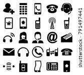 contact icons. set of 25... | Shutterstock .eps vector #791497441