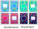 abstract geometric colored... | Shutterstock .eps vector #791497837