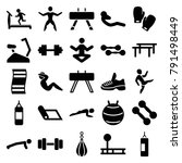 gym icons. set of 25 editable... | Shutterstock .eps vector #791498449