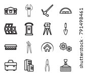 construction icons. set of 16... | Shutterstock .eps vector #791498461
